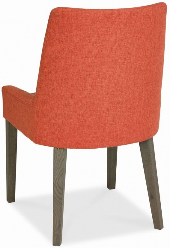 Bentley Designs City Weathered Oak Dining Chair - Burnt Orange Scoop Back (Pair)