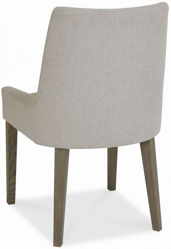 Bentley Designs City Weathered Oak Dining Chair - Pebble Grey Scoop Back (Pair)