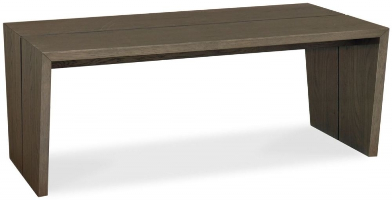 Bentley Designs City Weathered Oak and Soft Grey Coffee Table - Panel