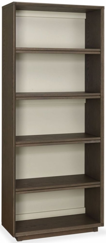 Bentley Designs City Weathered Oak and Soft Grey Bookcase - Wide