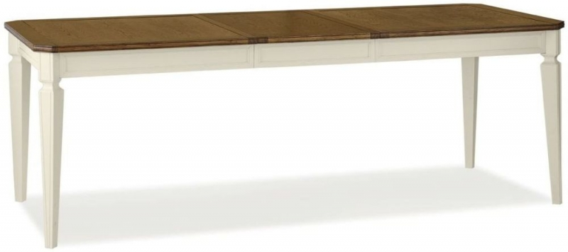 Bentley Designs Sophia Two Tone Dining Table - 6-8 Seater Extending