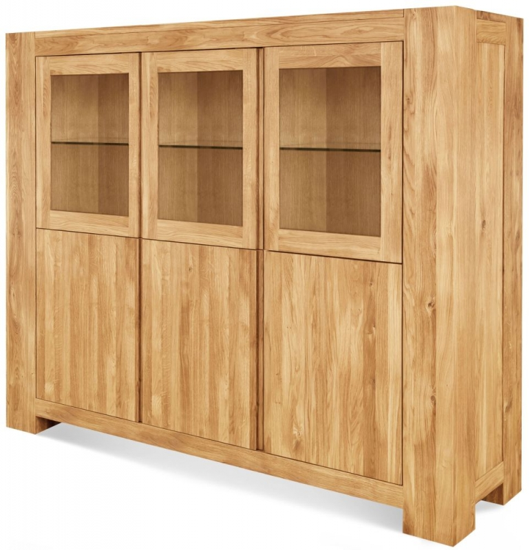 Clemence Richard Massive Oak Display Cabinet Type23