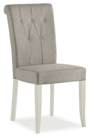Bentley Designs Hampstead Soft Grey and Weathered Oak Dining Chair - Upholstered (Pair)