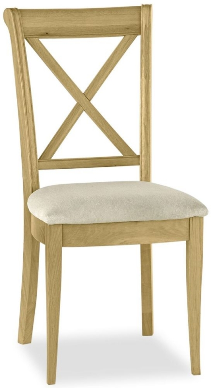 Bentley Designs Chantilly Oak Dining Chair - X Back (Pair)