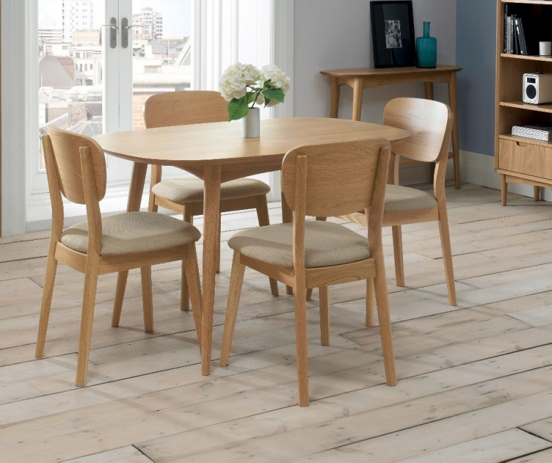 Bentley Designs Oslo Oak Dining Table - 4 Seater Fixed