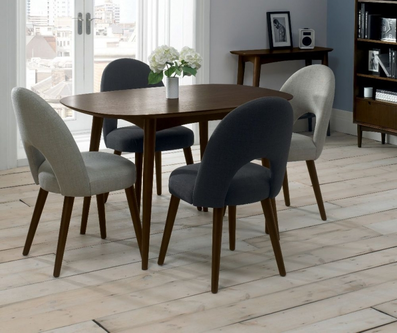 Bentley Designs Oslo Walnut Dining Table - 4 Seater Fixed
