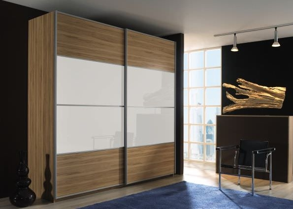 Rauch Juwel B Sliding Wardrobe with Glass Overlay Centered