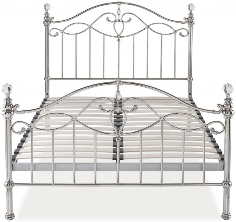 Bentley Designs Elena Shiny Nickel Metal Bedstead
