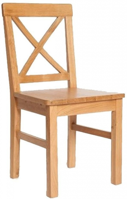 York Oak Solid Seat Dining Chair (Pair)