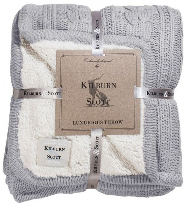 Gallery Direct Glencoe Grey Throw