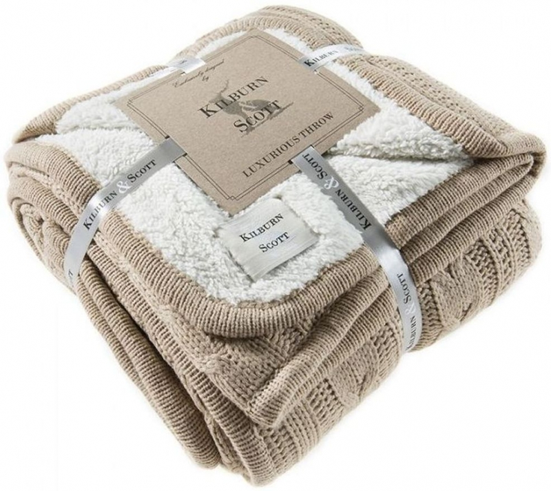 Gallery Direct Glencoe Natural Throw