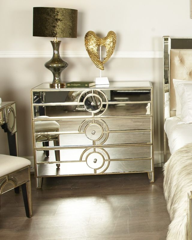 Angelo Mirrored 3 Drawer Chest