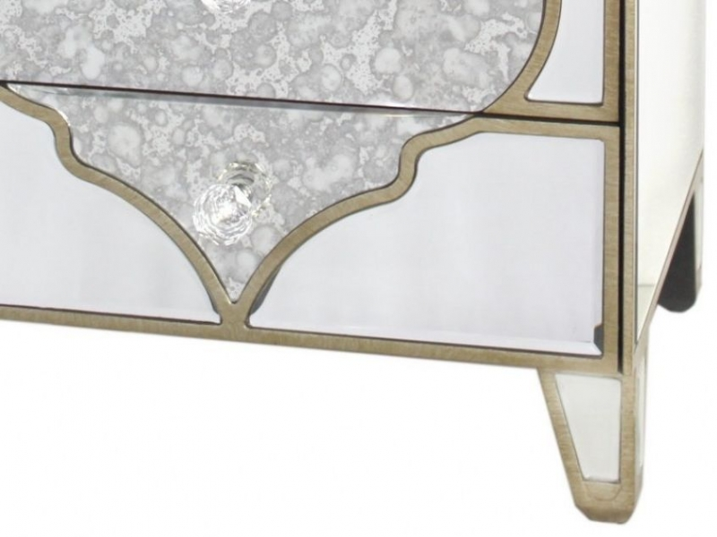 Morocco Mirrored Compact Bedside Cabinet
