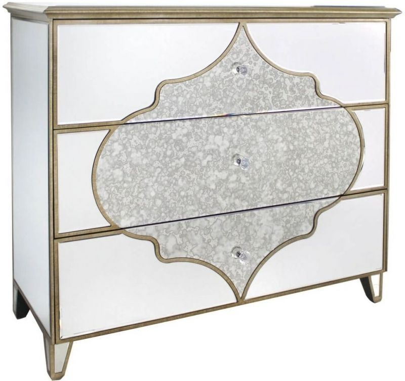 Morocco Mirrored 3 Drawer Chest
