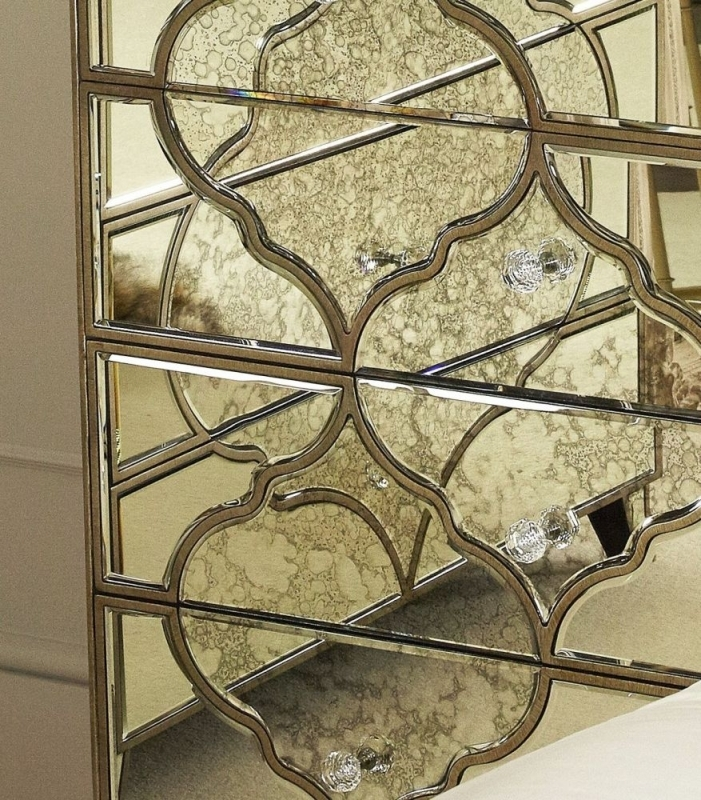 Morocco Mirrored 4 Drawer Chest