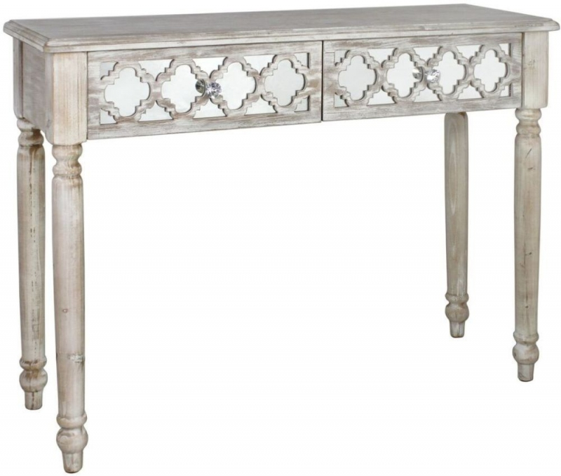 Hamlin Beach Mirrored Console Table