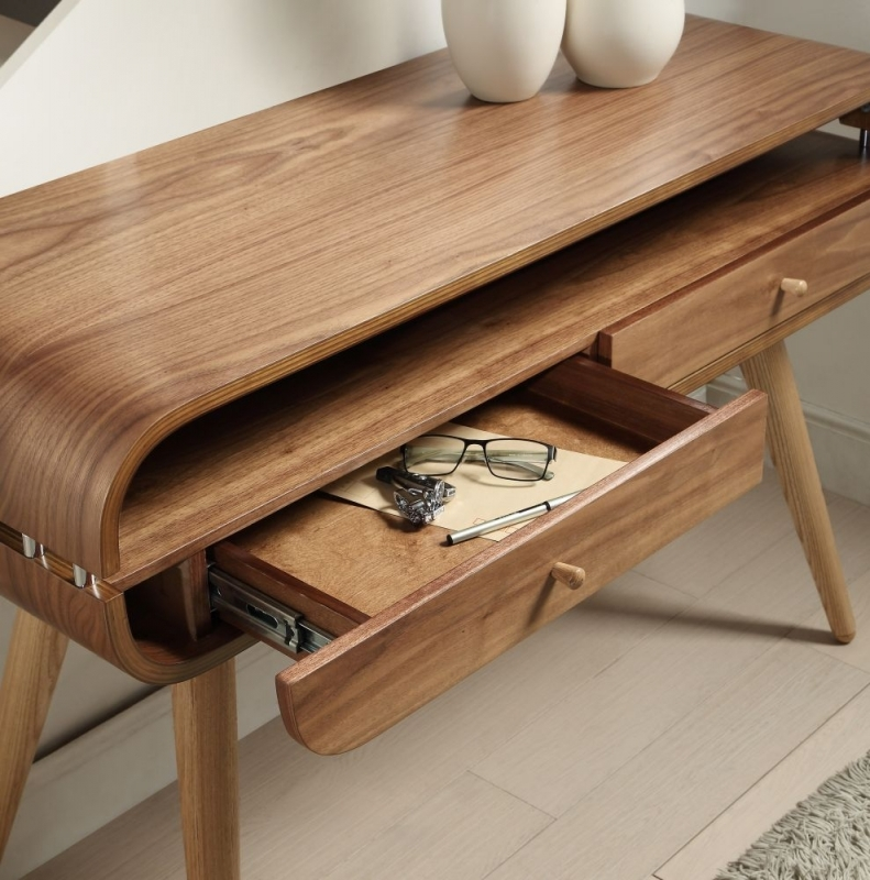 Jual Walnut Console Table - 2 Drawer JF705