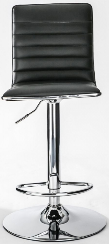 Alphason Colby Black Faux Leather Bar Stool