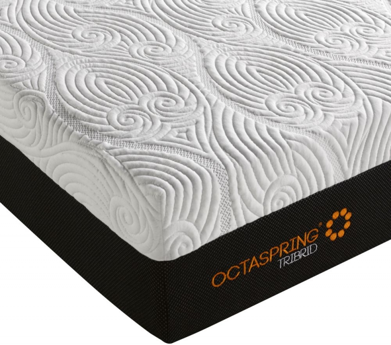 Dormeo Octaspring Tiffany White Sand Fabric Divan Bed with Tribrid Mattress