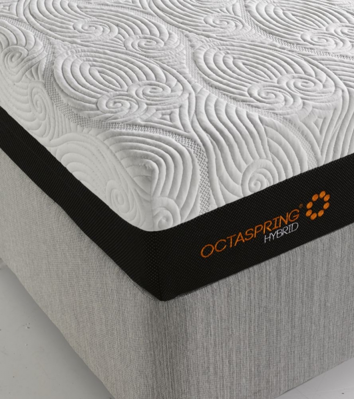 Dormeo Octaspring Loire Fabric Divan Bed with Hybrid Mattress