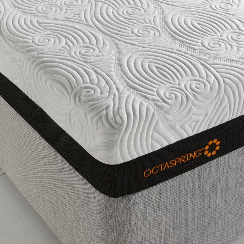 Dormeo Octaspring Sorrento Adjustable White Sand Fabric Divan Bed with 6500 Mattress