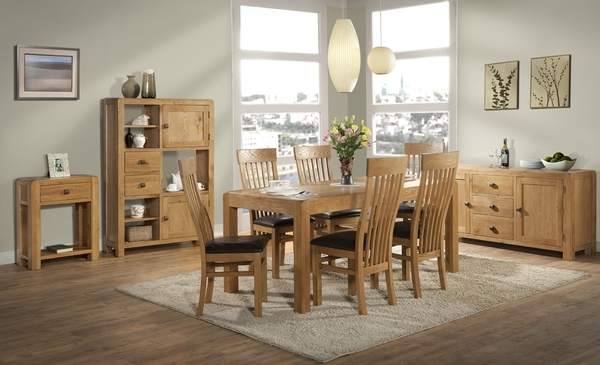 Devonshire Avon Oak Dining Table - Medium