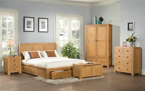 Devonshire Avon Oak Chest of Drawer - 2+3 Drawer