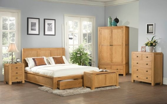 Devonshire Avon Oak Storage Bed - 2 Drawer