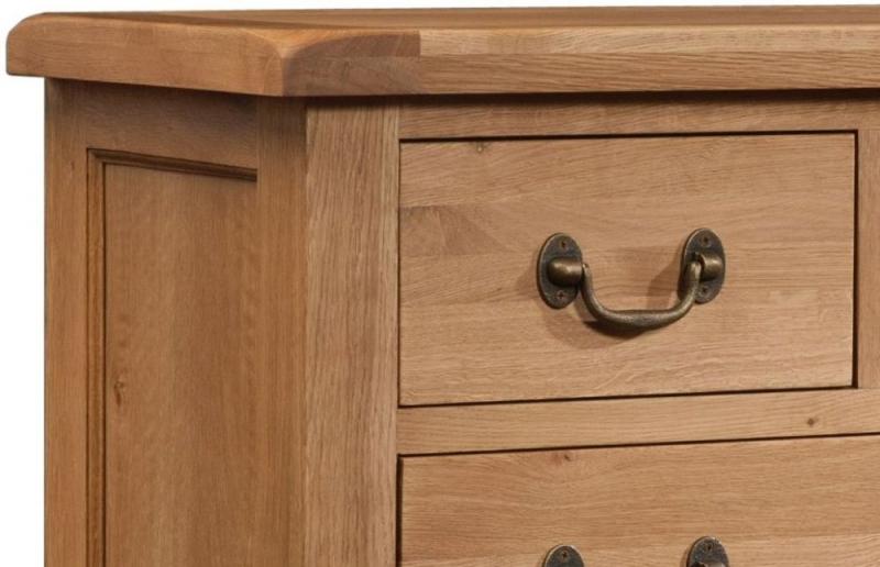 Somerset Oak 4 + 2 Drawer Chest