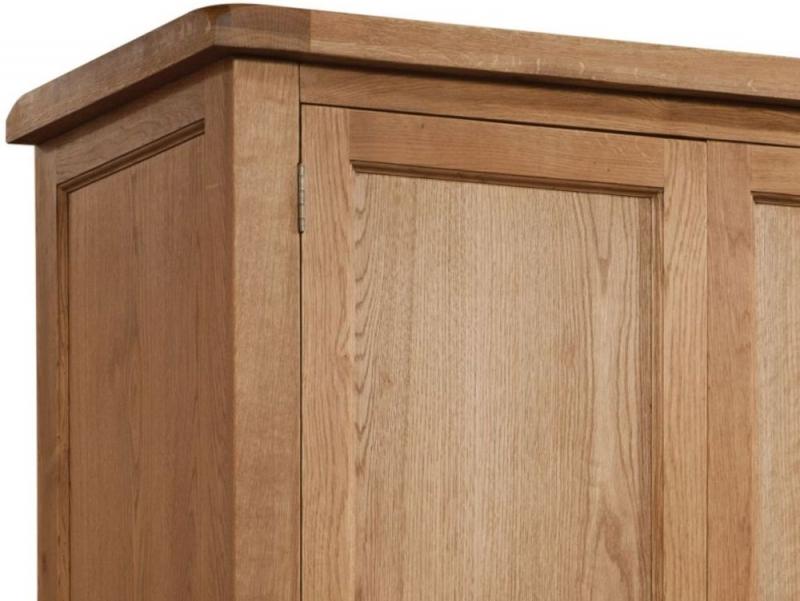 Somerset Oak 2 Door Double Wardrobe