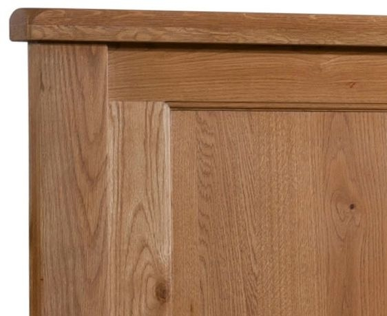Devonshire Somerset Oak Bed - Double Low Foot End