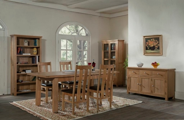 Devonshire Dorset Oak Dining Table with 2 Leaf - 132cm