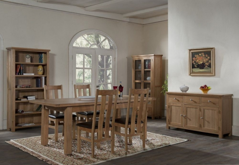 Dorset Oak Dining Table with Two Extensions