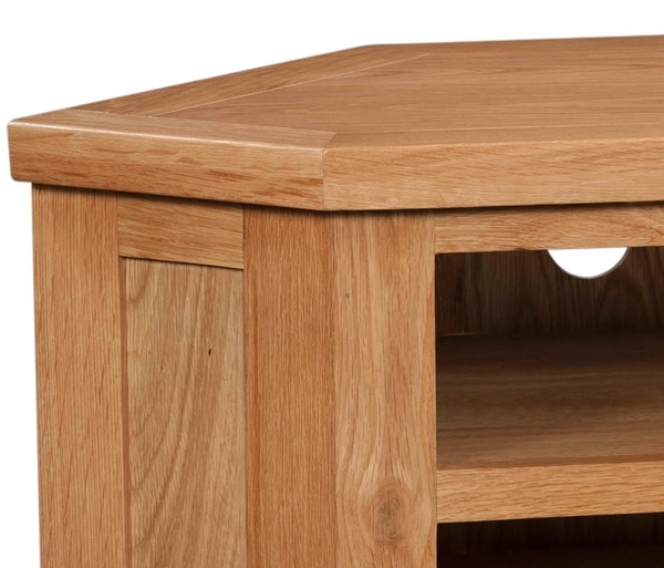 Devonshire Dorset Oak TV Unit - Corner 1 Drawer