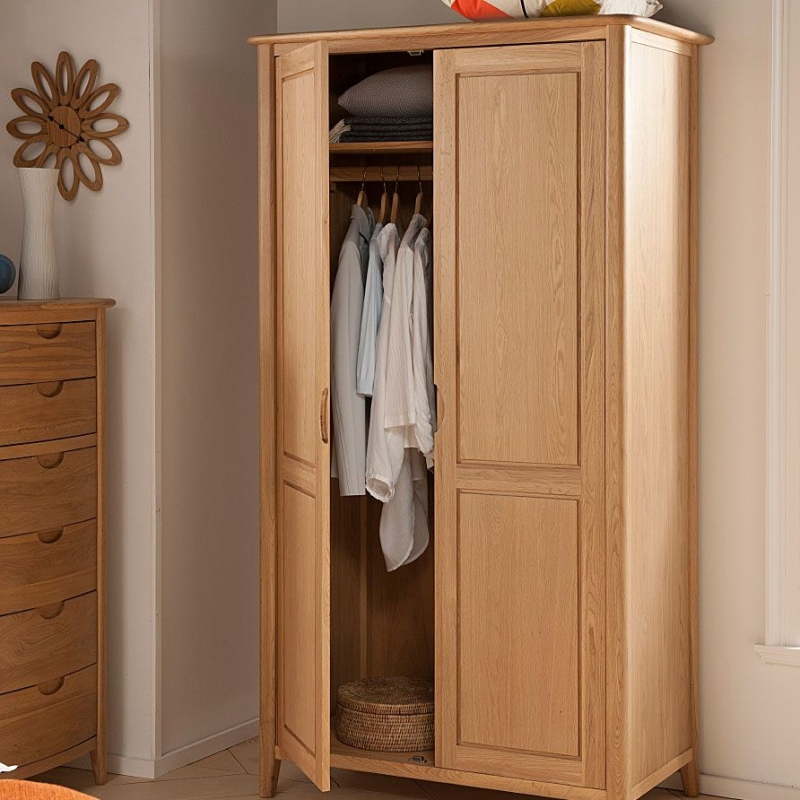 Willis and Gambier Grace Oak Double Wardrobe