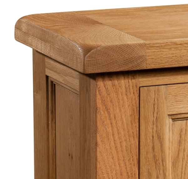 Devonshire Somerset Oak Bedside Cabinet - 1 Door
