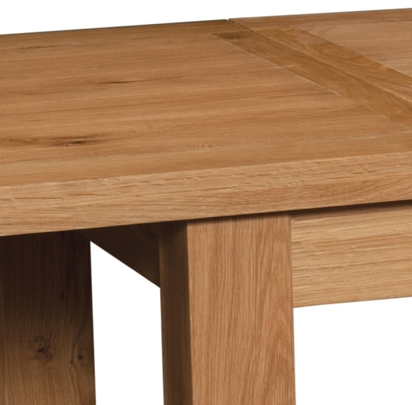 Devonshire Somerset Oak Dining Table with 2 Leaf - Large