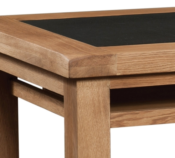 Devonshire Somerset Oak Office Desk PU Top