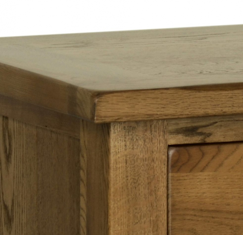 Devonshire Rustic Oak 5 Drawer Wellington Chest