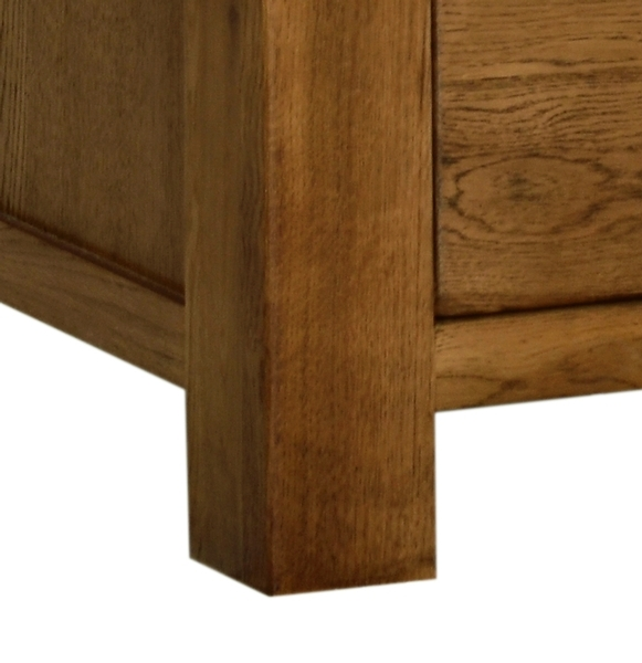 Devonshire Rustic Oak Chest of Drawer - Large 3+2 Drawer