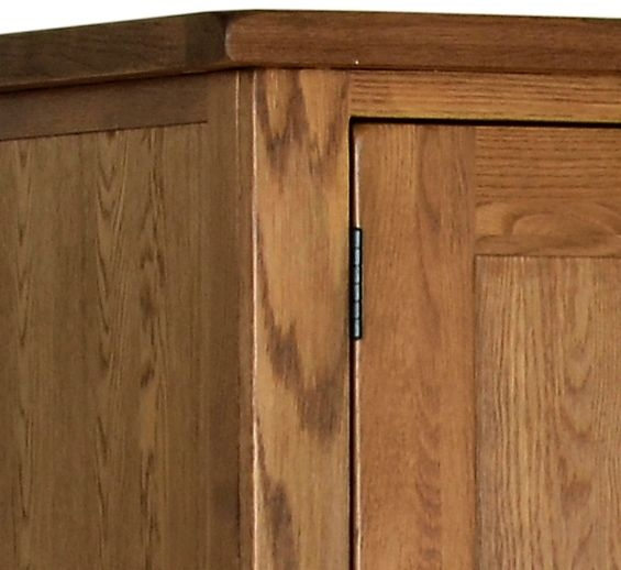Devonshire Rustic Oak Wardrobe - Double