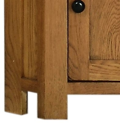 Devonshire Rustic Oak Display Cabinet - Corner