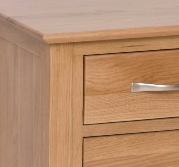 Devonshire New Oak Bedside Cabinet - High 3 Drawer