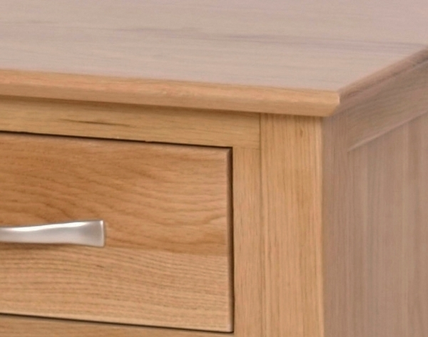 Devonshire New Oak Single Pedestal Dressing Table