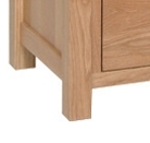 Devonshire New Oak Dressing Table - Double Pedestal