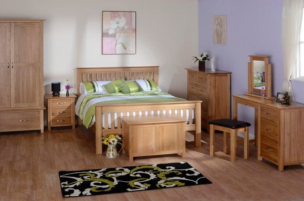 Devonshire New Oak Wardrobe - Double 1 Drawer