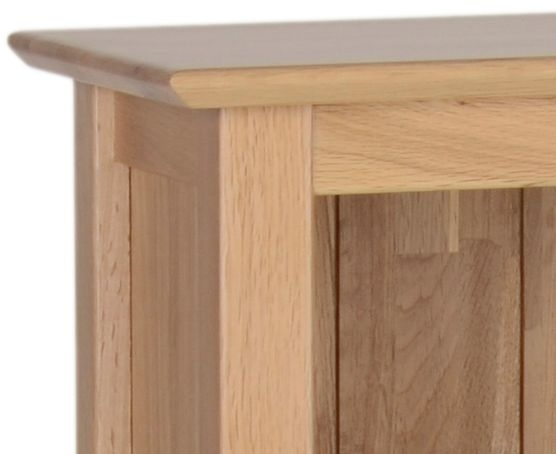 New Oak Tall Bookcase with Cupboard