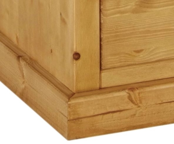Devonshire Chunky Pine Kenilworth Lacquered Bedside Cabinet