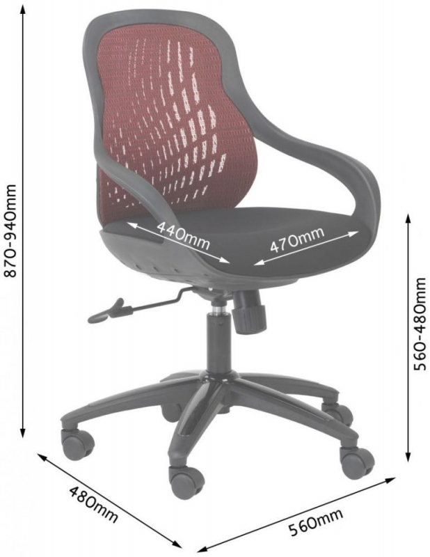 Alphason Croft Grey Mesh Office Chair AOC1010-M-GRY