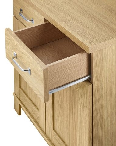 Kingstown Dalby Oak Sideboard - 2 Door 2 Drawer